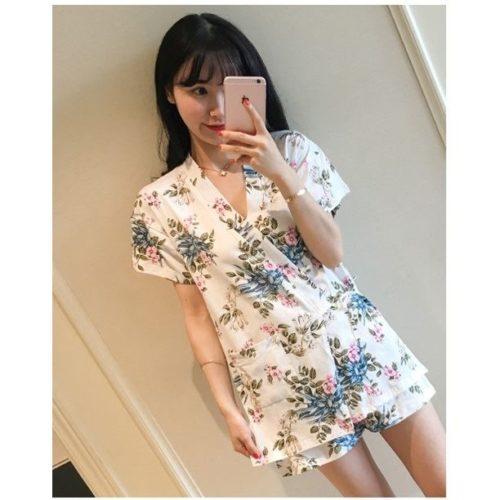 PJ4616-camellia Baju Tidur Wanita Cantik Bahan Lembut