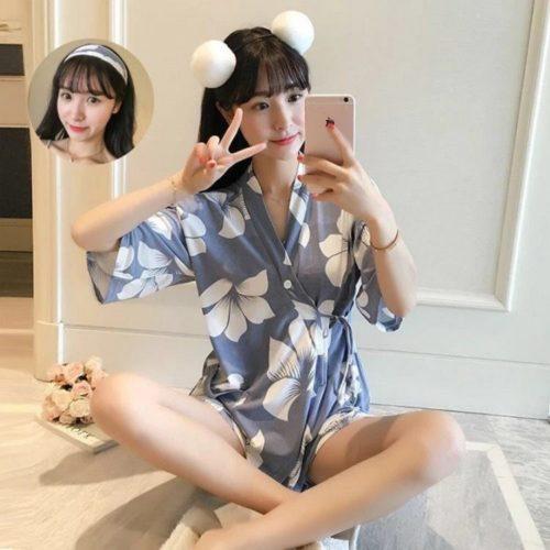 PJ4616-clover Baju Tidur Wanita Cantik Bahan Lembut