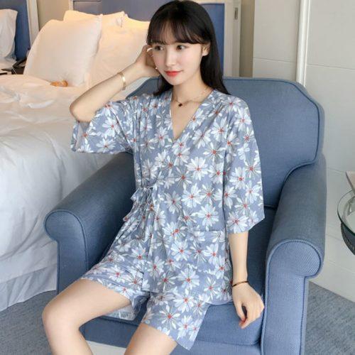 PJ4616-zouju Baju Tidur Wanita Cantik Bahan Lembut