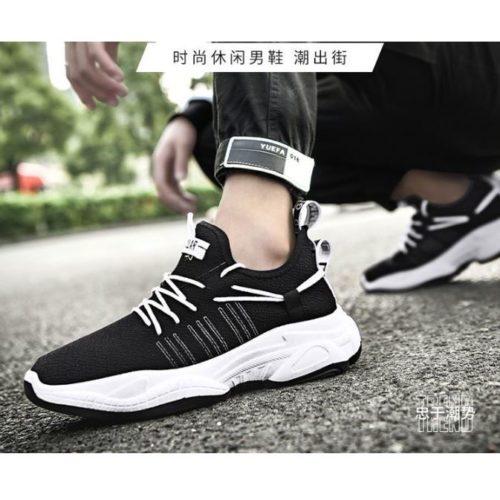 SHSWS1-blackwhite Sepatu Sneakers Pria  Modis Import Terbaru
