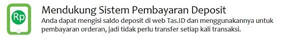Sistem pembayaran via deposit Tas.ID